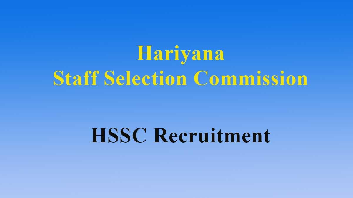 HSSC ITI Instructor Recruitment 2019 – 3206 Post Apply Online