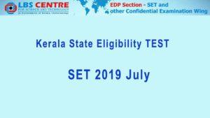 SET 2019 July- Kerala