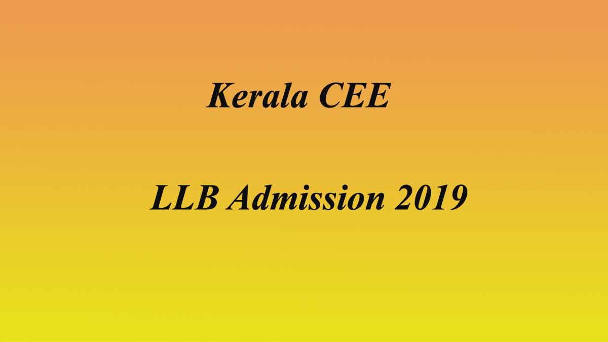 Kerala CEE LL.B Spot Allotment 2019 – 3 year LLB Admission