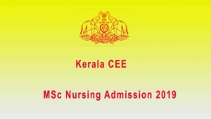 PG Nursing First Allotment Result 2019 – CEE MSC Nursing Admission