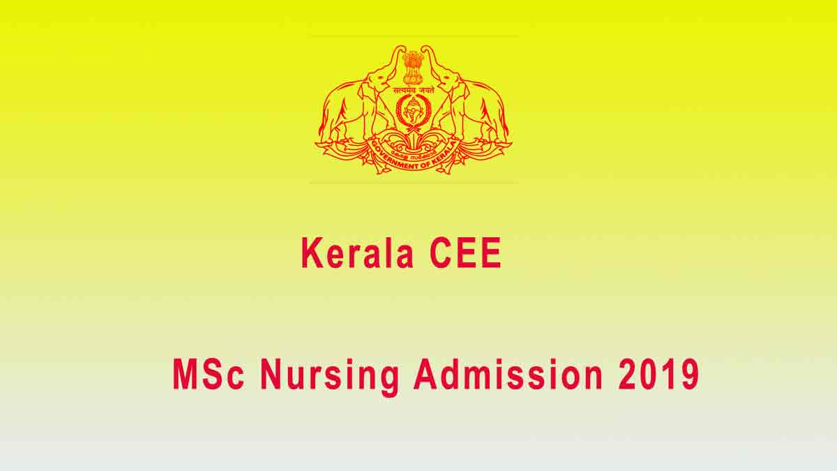 PG Nursing First Allotment Result 2019 – CEE MSC Nursing Admission