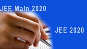 JEE Main Exam 2020