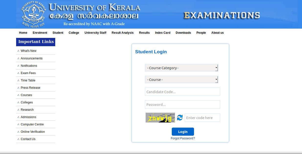Kerala University Exam Hall Ticket 2019 (Released) – Download Admit Card