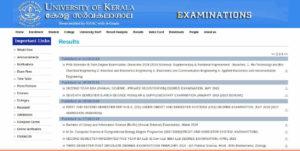 Kerala University BA/BCom/BSc/BCA/BBA Result 2019 (Published)