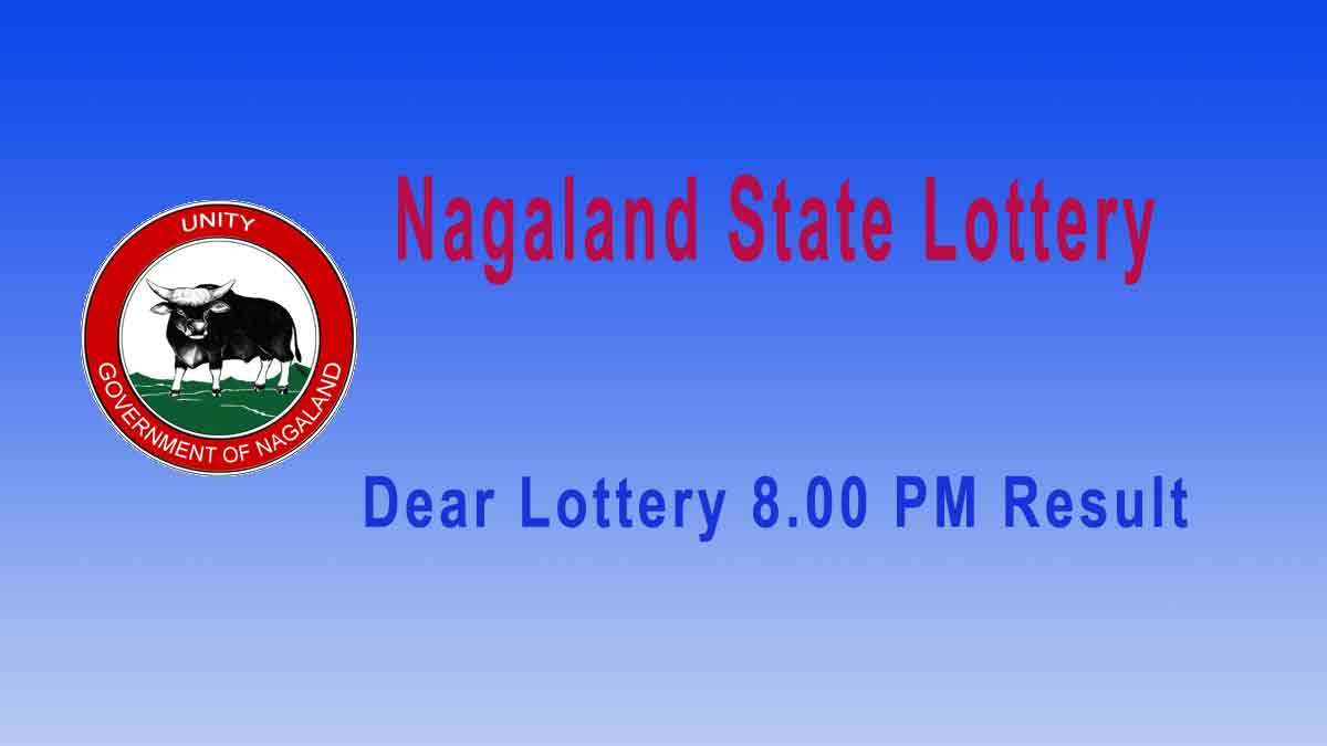 Lottery Sambad Nagaland Dear Falcon Evening 2.1.2020 Result 8.00pm