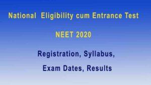 NEET 2020 Details