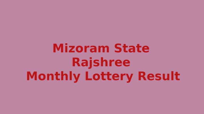 Mizoram Rajshree 500 Special Lottery Result 10.3.2020 (5.00 PM)