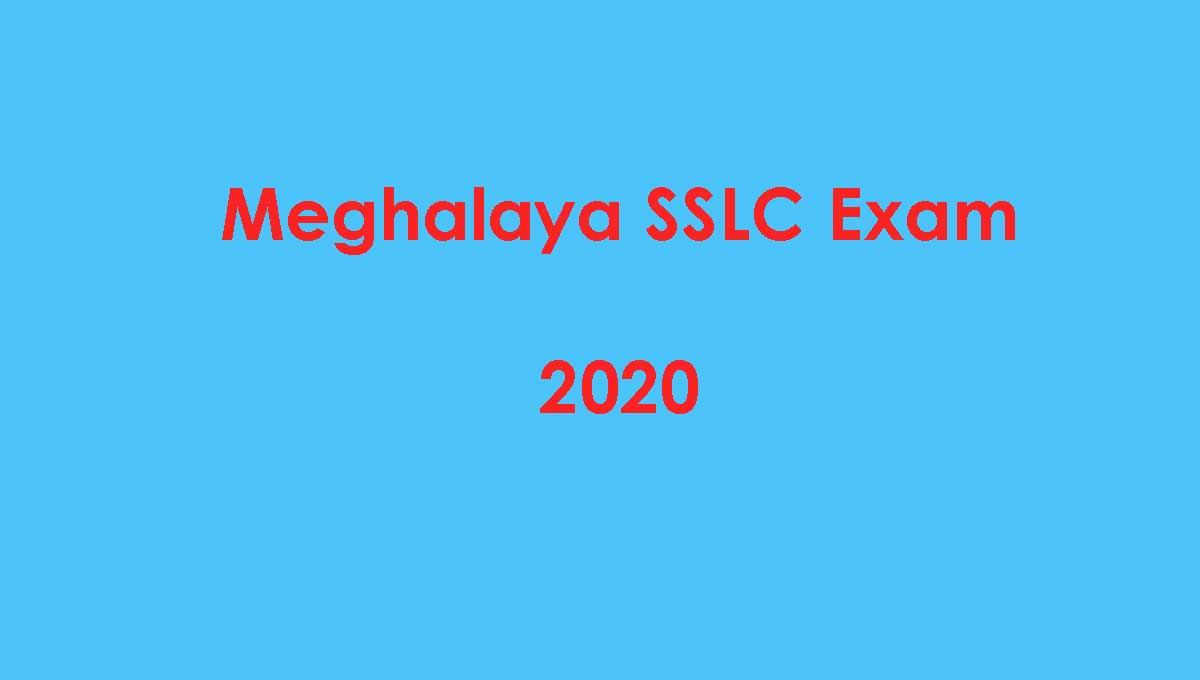 Meghalaya SSLC 10th Exam 2020