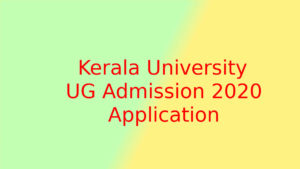 Kerala University Degree UGCAP