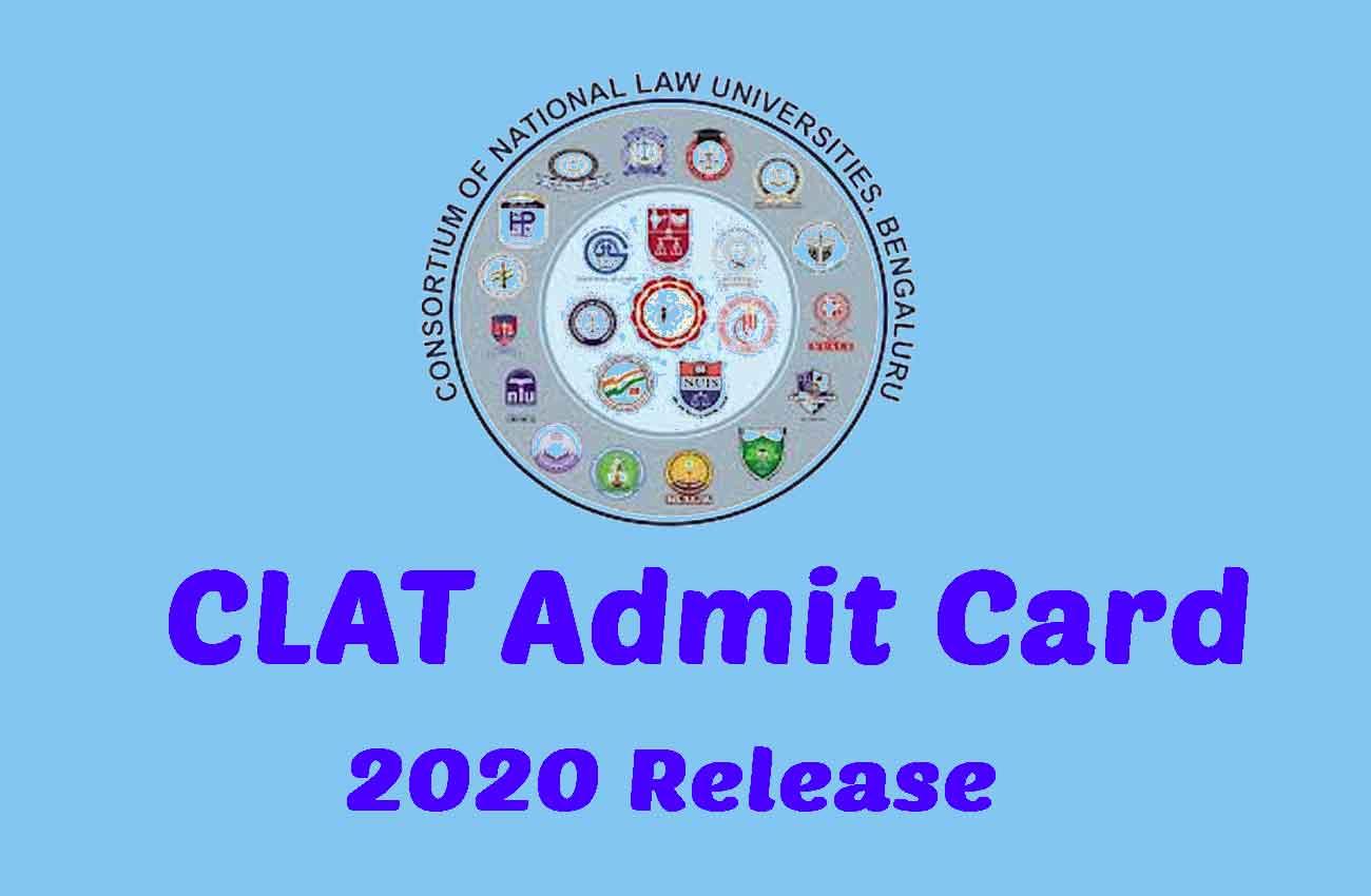 CLAT 2020 Admit Card Release @ Consortiumofnlus.ac.in [Live Updates*]