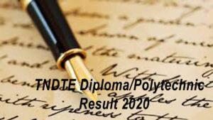 TNDTE Diploma Polytechnic Resutl 2020