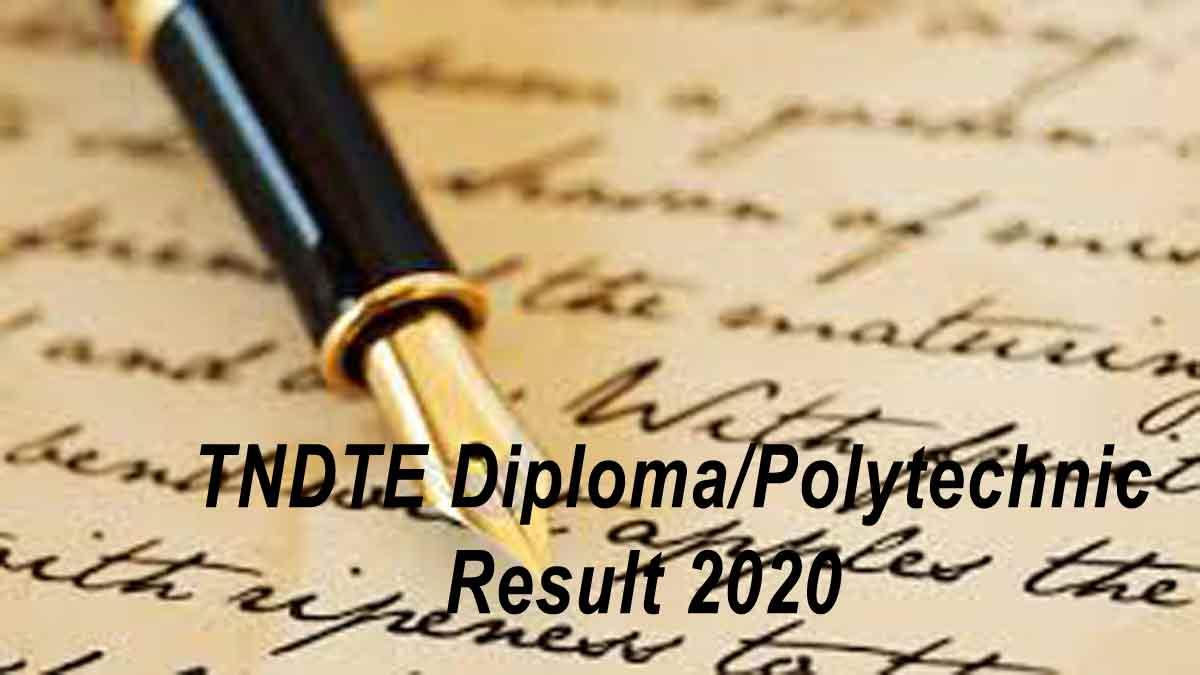 TNDTE Tamil Nadu Diploma Result Published today [LIVE Updates]