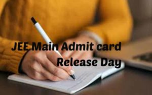 JEE main Admit card details