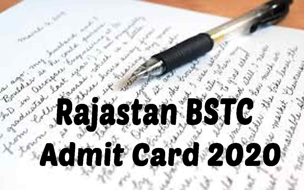 Rajasthan BSTC Admit Card Released today, Direct Link | Live Updates*