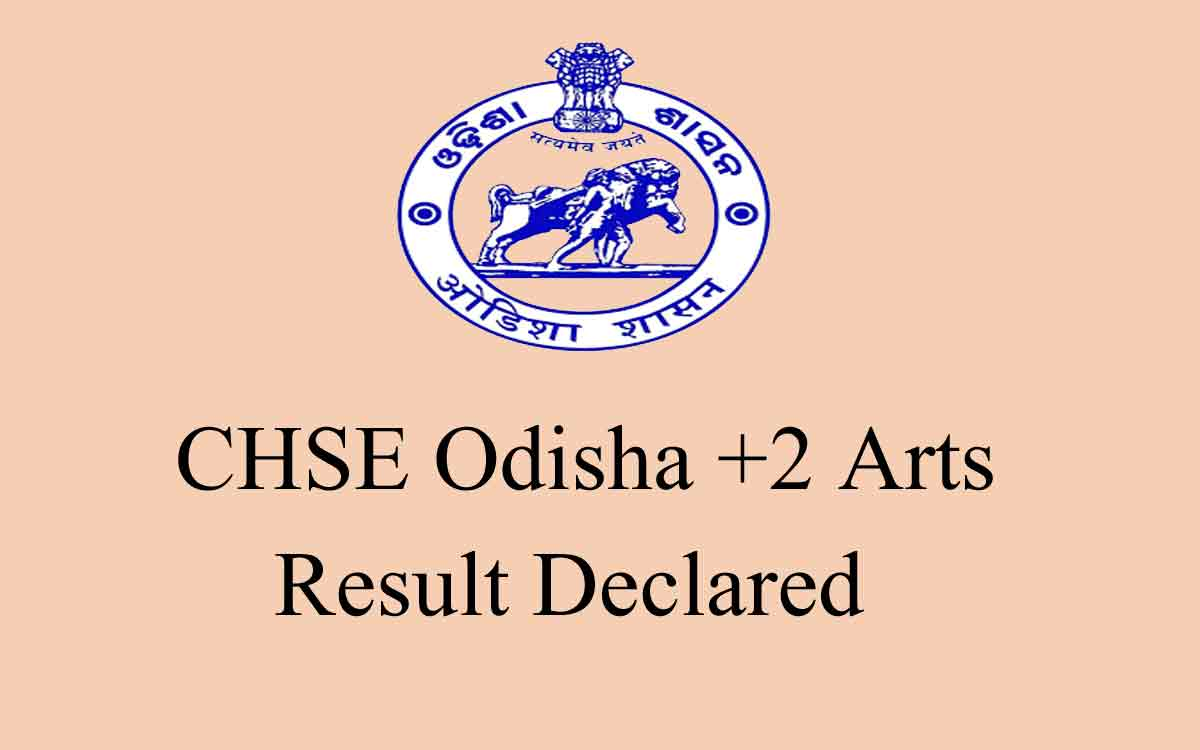 CHSE Odisha 2020 Plus Two (+2) Arts Result Published @ www.orissaresults.nic.in