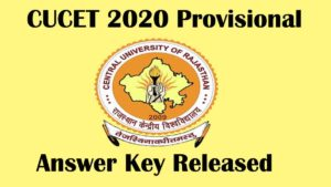 cucet 2020 provisional answer key