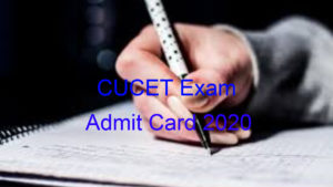 CUCET 2020 Admit Card released