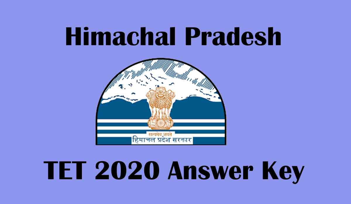 HP TET 2020 Answer key Released at [www.hpbose.org] | Direct Link, Eligibility