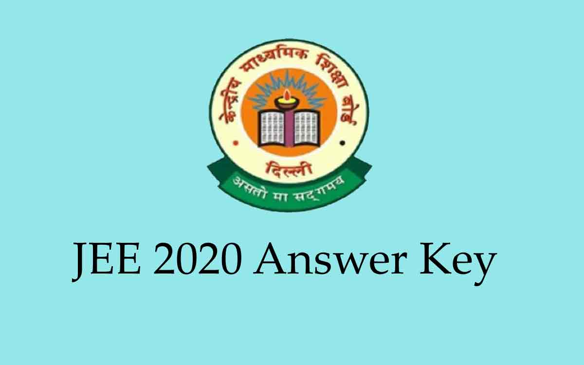 JEE Main 2020 Answer Key (Out) [Answer Key Available HERE]
