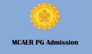 MCAER 2020 pg admission