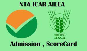 NTA 2020 ICAT AIEEA Admit Card
