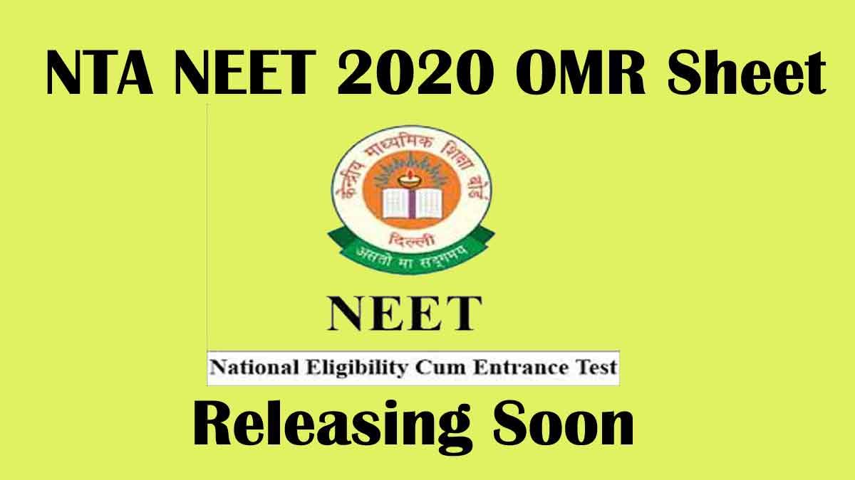 NEET 2020 OMR Response Sheet Released @ www.ntaneet.nic.in