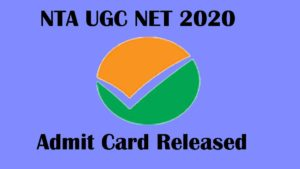 NTA UGC NET admit Card released