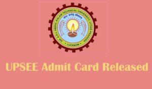 UPSEE 2020 admit acrd released