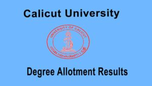 Calicut University Degree Second Allotment Result 2020