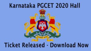 Karnataka PGCEt 2020 Admit Card Released