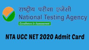 NTA UGC Net 2020 admit card download