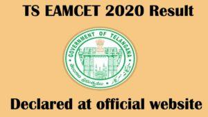 ts eamcet 2020 result