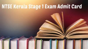 NTSE Stage 1 examination Admit Card