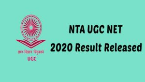 NTA UGC NET 2020 Result released