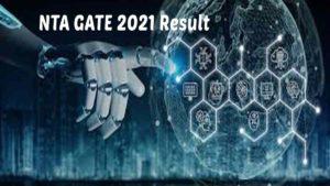 NTA GATE 2021 Result