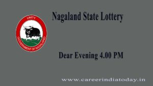 Nagaland State Lottery Result 4.00 pm – 12.04.2021 Dear Evening