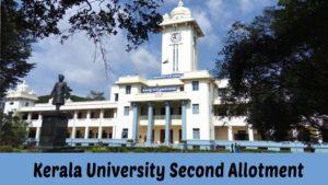 Kerala University UG Degree Second (2nd) Seat Allotment 2021