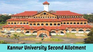 Kannur University UG Degree Second Seat Allotment 2021